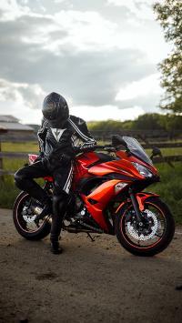 機車 摩托車 郊外 騎手