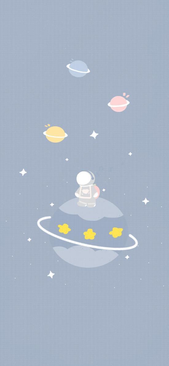 插图 宇航员 星星 梦幻