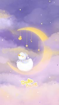 可爱 达可鸭 dake duck 月亮 梦幻