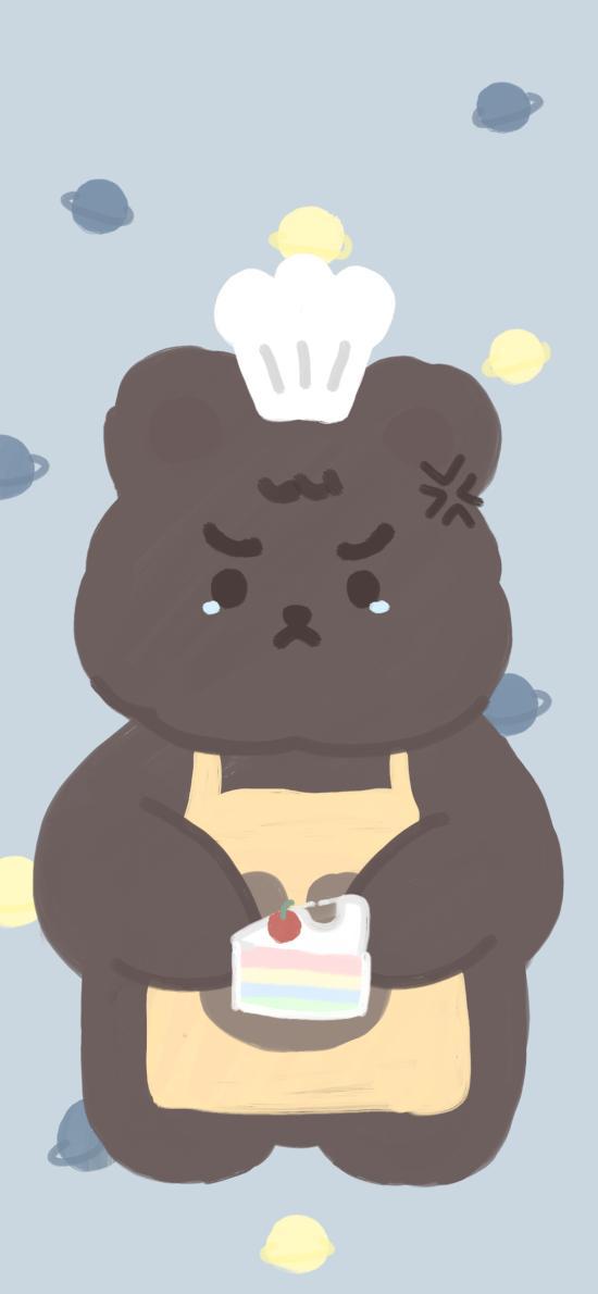 小熊 可爱 委屈 生气