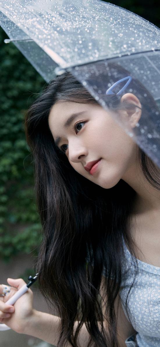 趙露思 演員 明星 藝人 雨傘