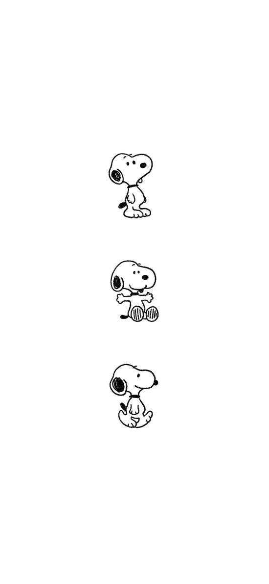 史努比 黑白 动画 简约
