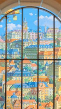 建筑 房屋 窗外 阳光 城市