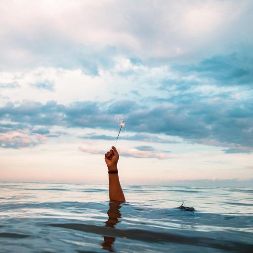 大海 小烟花 潜水 海水