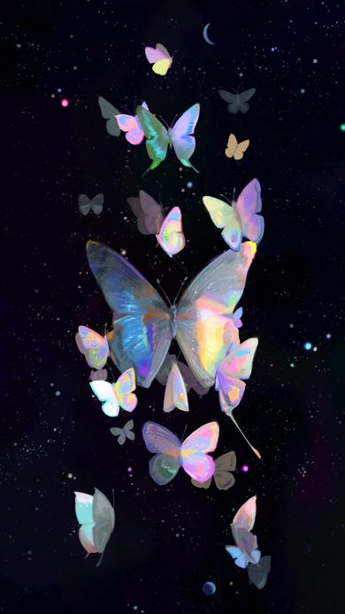 蝴蝶 插画 梦幻 翅膀 唯美