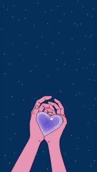 爱心 爱情 浪漫 星空 蓝色