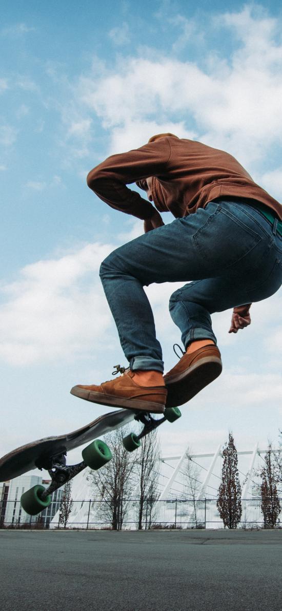 滑板 運動 戶外 男子 花式