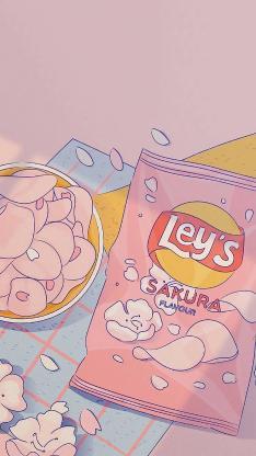 插图 薯片 樱花 乐事