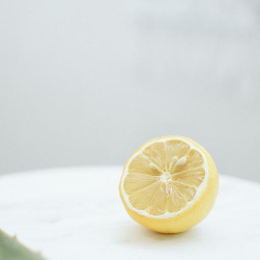 柠檬_水果 新鲜 切半 柠檬
