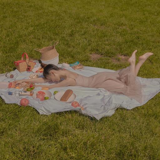 徐璐 演员 写真 野餐 草坪 绿色