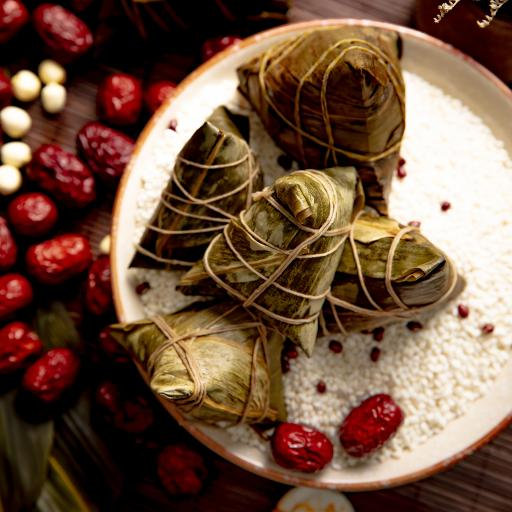 传统 红枣 糯米 粽子