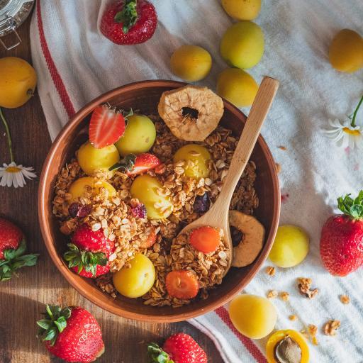 健康 草莓 水果 杏 燕麦