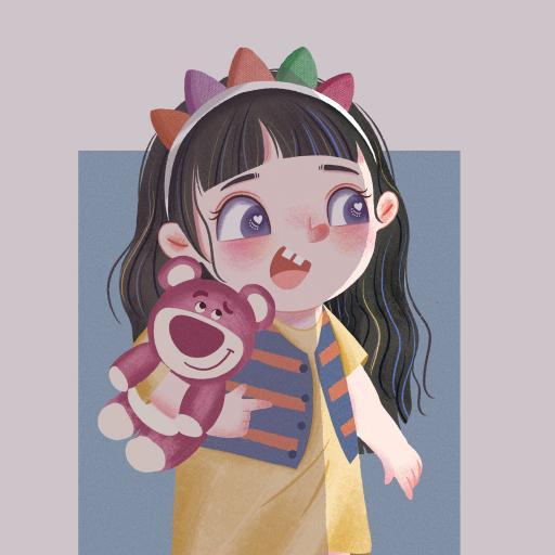 插画 卡通 女孩 可爱