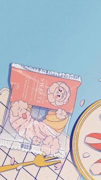 夏日零食 插图 系列 面包