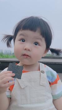 丸子妹 小女孩 可爱 萌 海苔