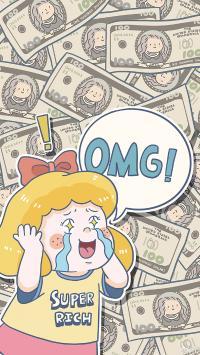 OMG 女孩 超级有钱 钞票 暴富