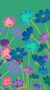 花朵 油画 色彩 艺术