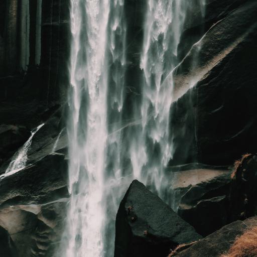 郊外 自然 瀑布 岩石