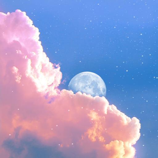天空 月亮 月球 云彩 星空