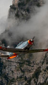 飞机 飞行 航空 山 螺旋桨