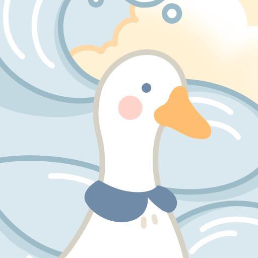 卡通 鸭子 浪花 可爱
