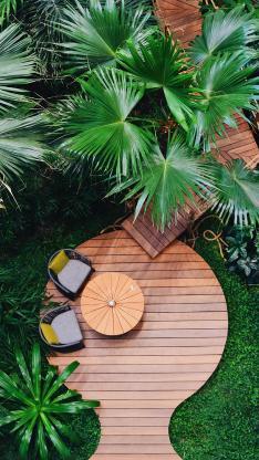 庭院 绿化 休闲 桌椅
