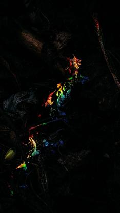彩虹光 折射 简约 苹果