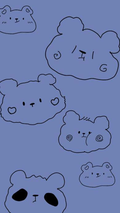 卡通 线条 熊猫 可爱