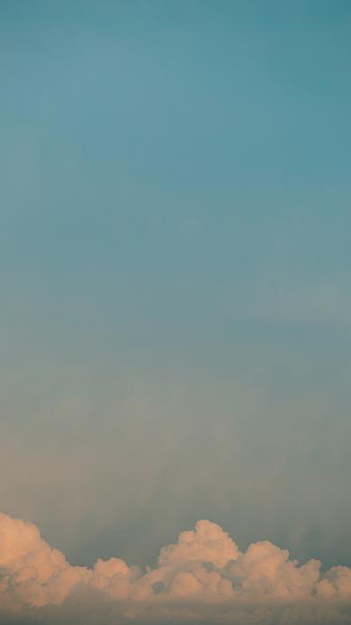 天空 蔚蓝 云层 高空