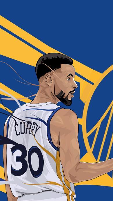 库里 篮球 运动员 球星 NBA 蓝色