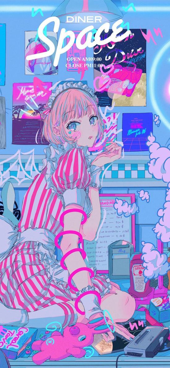 女孩 女仆装 海报 玩具 性感 漫画
