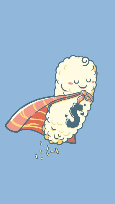 趣味 饭团 三文鱼 寿司 拟人