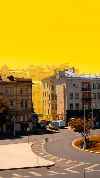 街景 落日 唯美 静谧