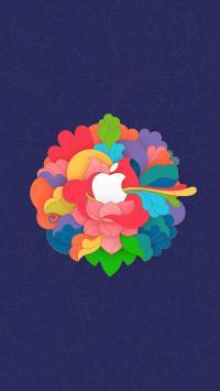 苹果 iPhone 花 色彩 炫丽 logo 品牌