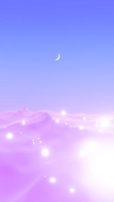 月亮 梦幻 紫色 光 渐变