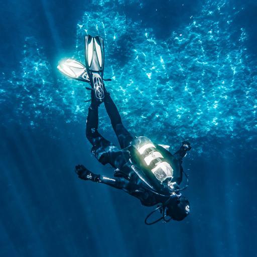 潜水 海底 海洋 蓝色 极限运动 氧气筒