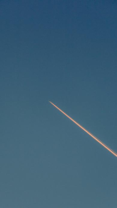 天空 飞机 航空 尾气