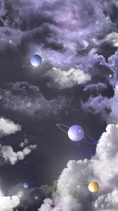 宇宙 天空 星球 插画 梦幻
