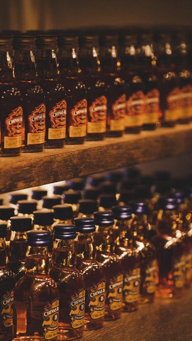 酒 瓶子 排列 柜子 饮品