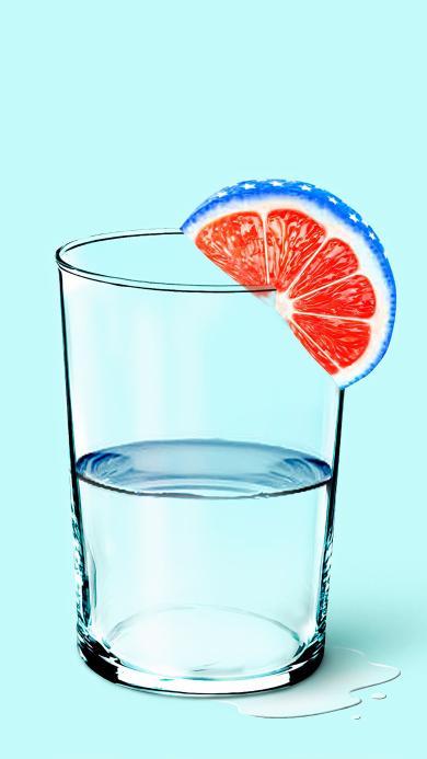 饮品 水杯 清水 水果 葡萄柚 西柚