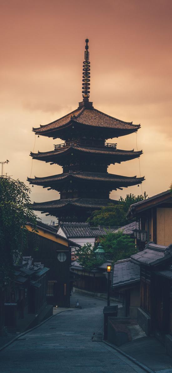 日本 和风建筑 法隆寺 斑鸠寺
