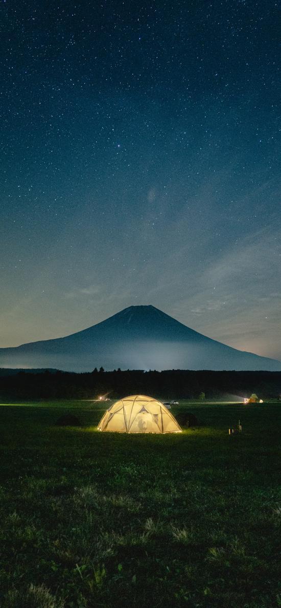 星空 夜景 帐篷 露营