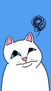 猫 思绪 蓝色 混沌 线