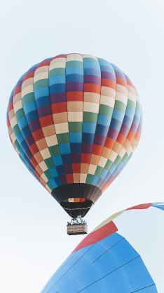 热气球 升空 游玩 五彩