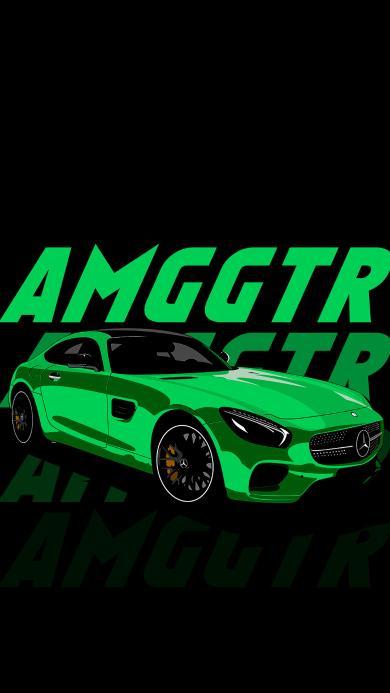 插图 奔驰 绿色 奔驰AMG