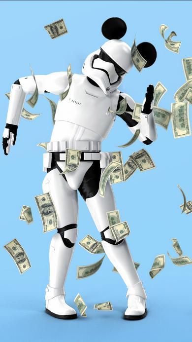 玩具 机器人 摆件 钞票
