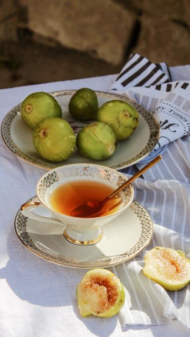 下午茶 水果 无花果