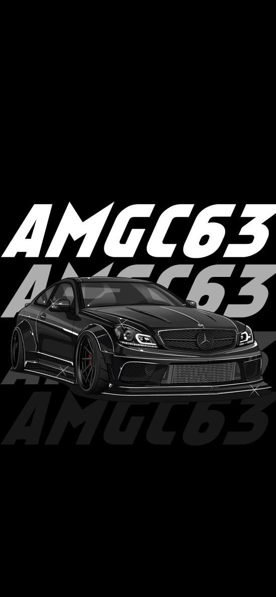 插图 奔驰AMG 豪车 黑色