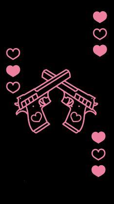 爱心 可爱 枪 黑粉