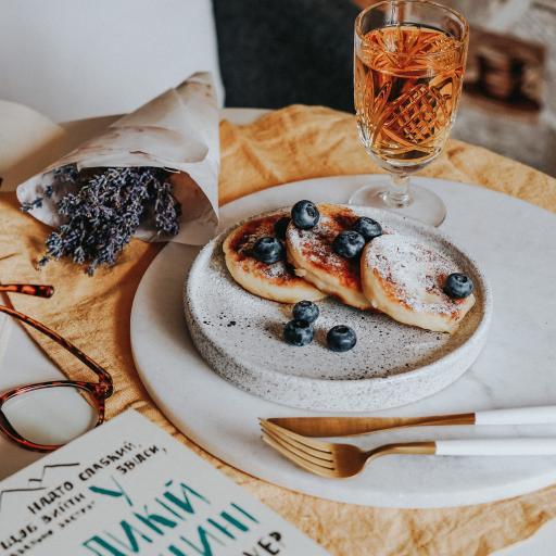 甜品 蓝莓 餐具 静物